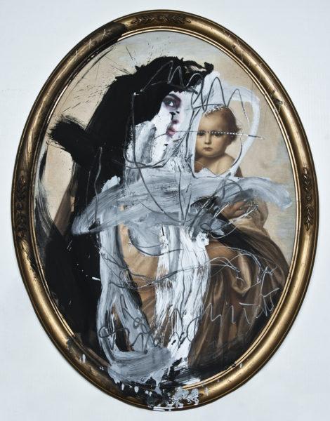 (androgynous saint) transsexualität . 63x83 oval . 2009