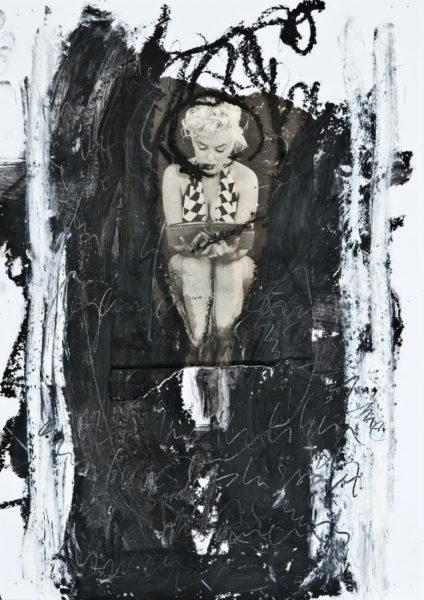 ihr beschissenen (geistigen) insulaner - den katholiken . 27x41,5 . 2009