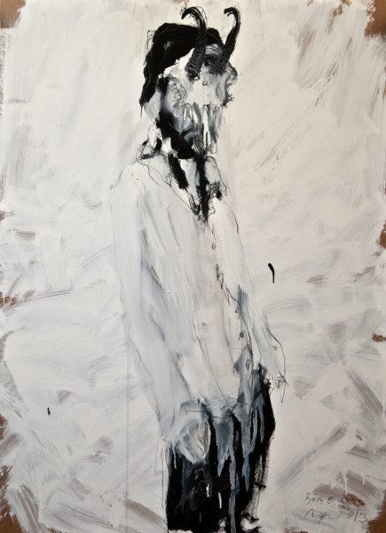 bone XXXII (horned man) . 102x140 . 2013